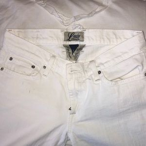 white bootcut lucky brand jeans
